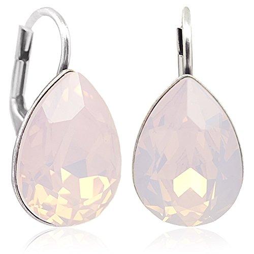 Ohrringe mit Kristallen von Swarovski® Silber Rosa NOBEL SCHMUCK