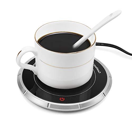 Wandefol Tassenwärmer Kaffeewärmer Multifunktional Kaffee Tee Tasse Wärmer Multifunktionale Becher-Wärmehaltungsplatte Getränkewärmer Glas mit Elektrischer Heizplatte 220V 18W für Büro Haushalt