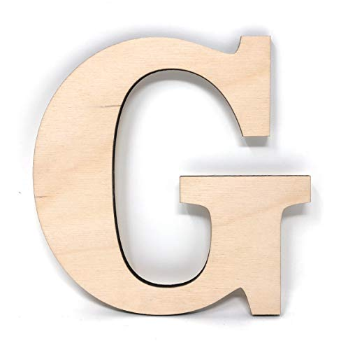 Gocutouts 12' Wooden G Unfinished Wooden Letters Paint Ready Wall Decor News (12' - 1/4' Thick, G)