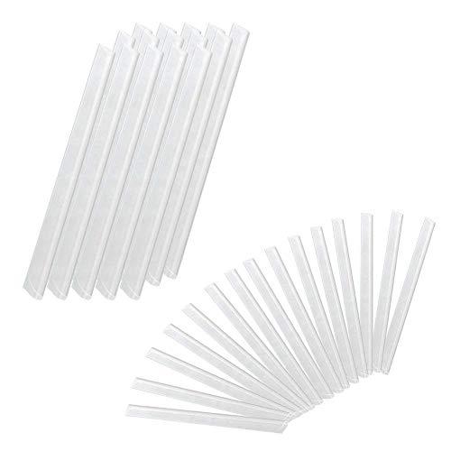 Froadp 30 Stück PVC Befestigungsclips Sichtschutzstreifen Sichtschutz Klebestreifen zur Befestigung Transparent