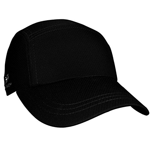 Headsweats Performance Race/Running/Outdoor Sports Hat, Black
