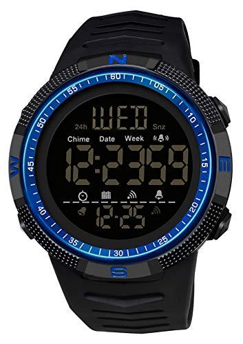 Herren Militär Uhr Digital Sportuhr Stoppuhr 5 ATM Wasserdicht Outdoor Tactical Watch Armbanduhr Countdown Datum Wecker Kalender Uhren Männer