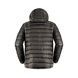 Cordillera Men's Down Hoody Jacket (Pewter, L)