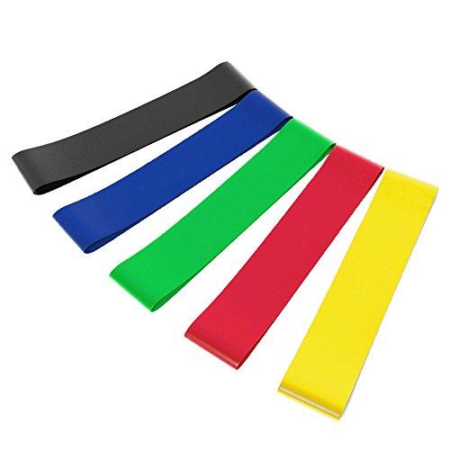 5 x unisex ejercicio resistencia bucle bandas látex diferentes deportes de color estirado bandas para estiramiento yoga fisioterapia Inicio fitness entrenamiento. pulgadas longitud