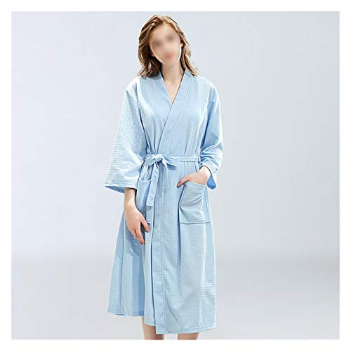 zyy Albornoz Albornoz Delgado Albornoz Absorbente Pijamas para Pareja Hombres de Estilo Larga y Ropa para Mujer (Color : Sky Blue Female, Size : XL)