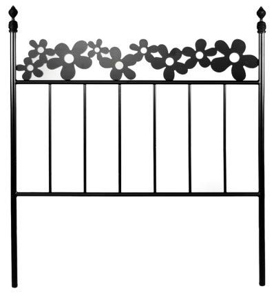 Hogares con Estilo - Cabecero Forjado artesanalmente en España. para Cama de 135 cms Modelo Primavera Color Plata