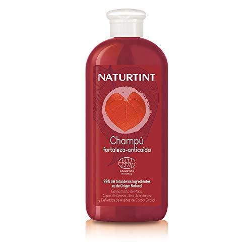 Naturtint Shampooing Fortifiant | Renforce et donne de la densité | Arrête la chute des cheveux | 99% Ingrédients Naturels | Eaux d' Orange et Citron - 330 ml