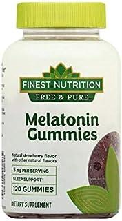 Finest Free & Pure Melatonin 5 mg Gummies Strawberry 120ea, 1qty