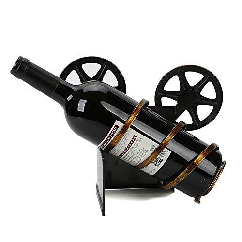 Botellero Adorno Cámara Proyector Modelado Creativo Bar Restaurante Armario de vino Estante de vino Retro Estante de vino Artesanías de metal Porche de escritorio Decoración de la sala de estar Almace