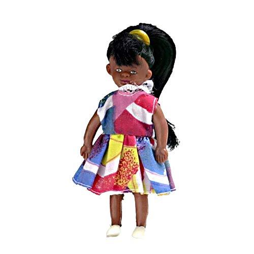 Maison De Poupées Miniature 1:12 Échelle Personnages Noir Peu Sœur Fille