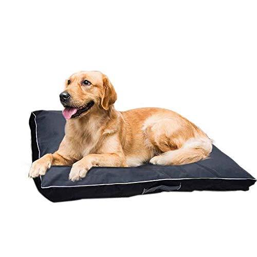 Hund Bett Kissen für Große Hund Oxford Tuch Welpen Atmungsaktive wasserdichte Hund Haus Pad Pet Nest Sofa Decke Matte Schwarz L