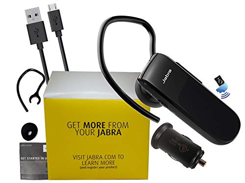 Jabra Classic Bluetooth HD Headset - with Car Charger - (Renewed)