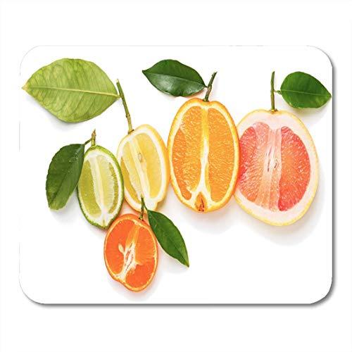 Mauspads Draufsicht auf Scheiben Zitrusfrüchte Orange Limette Grapefruit Mauspad für Notebooks, Desktop-Computer Matten Büromaterial