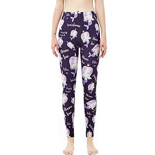 XpFac Store Linda Belleza, Impresión Digital, Leggings, Piel Femenina, Estiramiento Amistoso Pantalones de Yoga para Mujer (Color : Purple, Size : XXXX-Large/XXXXX-Large)