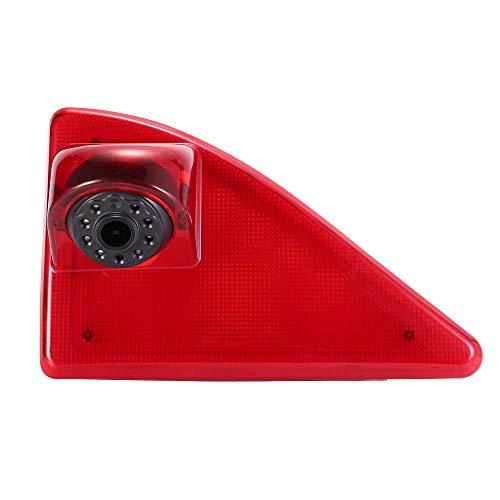 HD IP68 1280pixeles Transporter Nocturna Luz Freno Cámara de Marcha Atrás Visión Trasera Coche Puede Ajustar el ángulo Compatible con Opel/Vauxhall Movano/R-enault Master/N-issan NV400 (Cámaras)