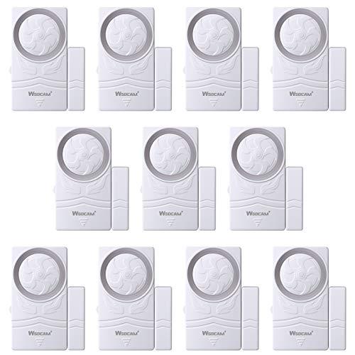 Wsdcam Door and Window Alarm for Home Wireless Alarm Security System Magnetic Alarm Sensor Close Door Reminder Loud 110 dB, 4-in-1 Mode Window Alarms 10 Pack
