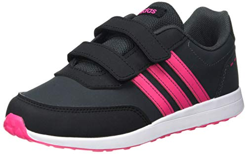 adidas VS Switch 2 Cmf C, Scarpe da Corsa Unisex-Bambini, Carbon/Shock Pink/Ftwr White, 35 EU