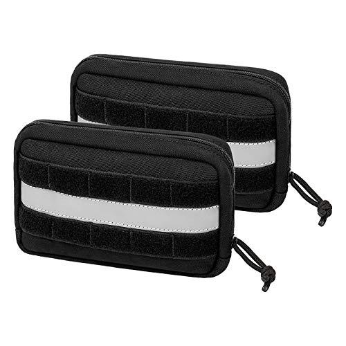 Service Dog Vest Harness Saddle Bag Backpack Pouch, Emotional Support, Service Dog in Training,Quality Saddlebag for Tactical Dogs Vests(Black)