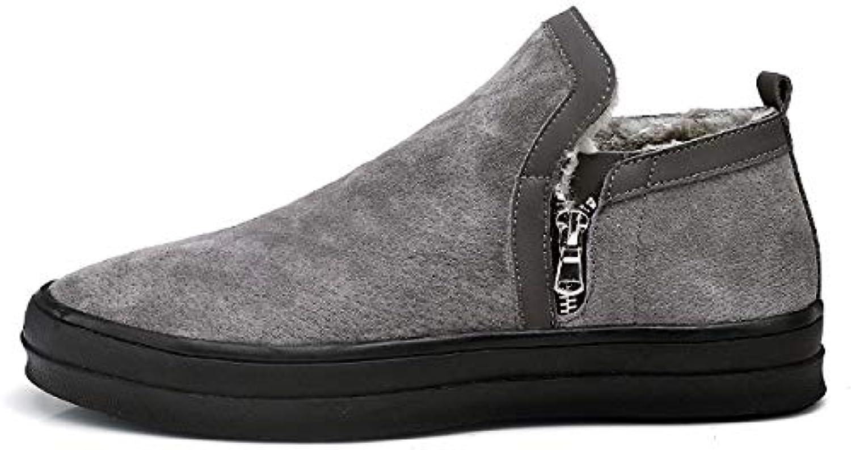 FHCGMX Fashion Flock Bequeme Kurze Schneestiefel für Herren Herren Schuhe für Erwachsene, Winter, warm, weich mit Schuhen  70% Rabatt