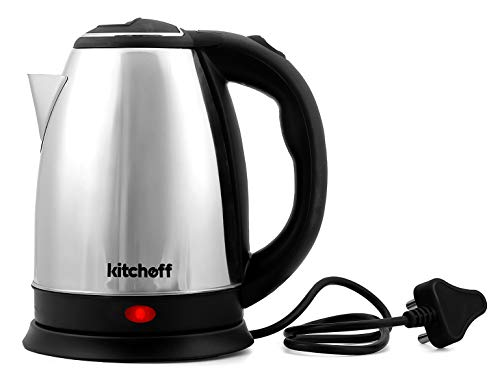 Kitchoff Automatic Stainless Steel Electric Kettle, (Kl2, Black)