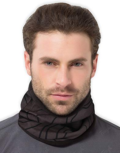 Tough Headwear Neck Warmer - Winter Fleece Neck Gaiter & Ski Tube Scarf for Men & Women - Cold Weather Face Cover, Mask & Shield