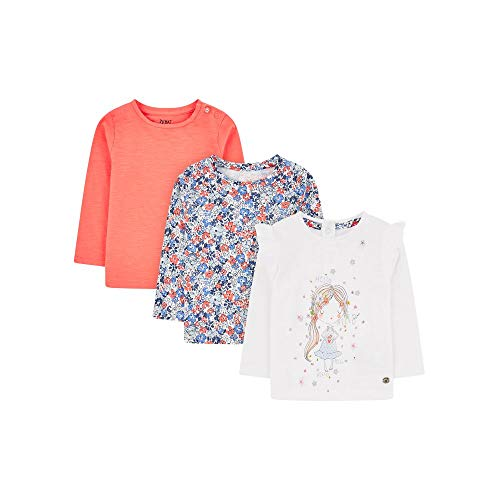Mothercare Baby-Mädchen Mg Fm 3pk Ls Tee (Girl/dits/COR) T-Shirt, Schwarz (Multi 1), 12-18 Months (Size:86)