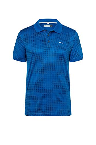 KJUS Men Spot Printed Polo S/S Blau, Herren Polo Shirt, Größe 50 - Farbe Pacific Blue