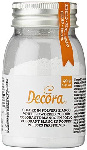 Decora, Colore in Polvere E171, Bianco, 1 pezzo da 40 gr
