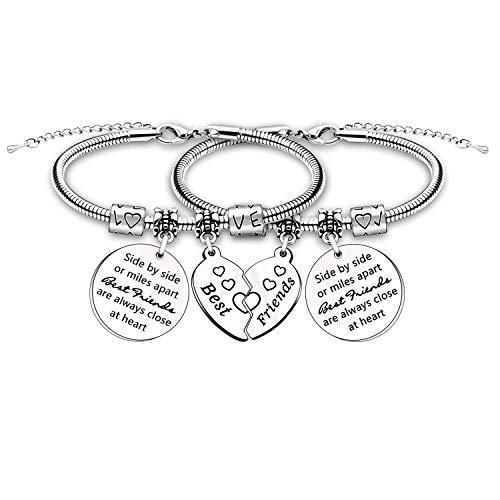 Best Friends Gift Bracelets for Women Girl Friendship Bracelet Bangle Birthday Christmas Graduation Gift