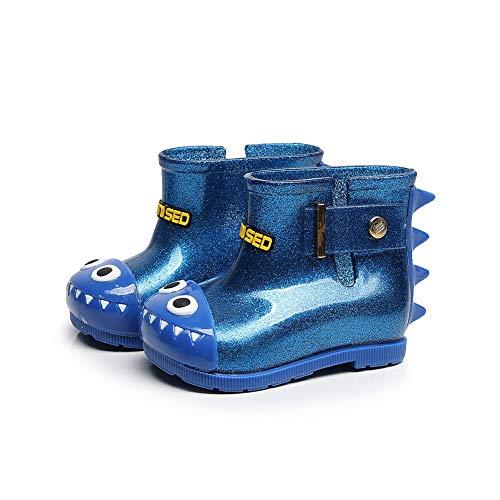 Naisicatar Kinder Regen Schuhe Säuglingsbaby-Wasserdichtes Dinosaurier-Cartoon Shark Rubber Regen Stiefel Nizza Geschenk