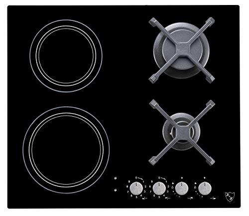 K&H® 4Z-CG22 Table de cuisson électrique à gaz naturel 4 zones