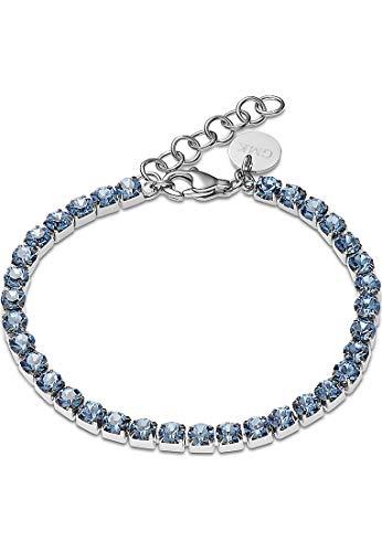 Guido Maria Kretschmer by CHRIST GMK Collection Damen-Armband Edelstahl One Size Silber/blau 32012873