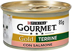 Purina Gourmet Gold Húmedo Gato Paté con salmón, 24 latas de 85 g Cada una de Las 24 x 85 g