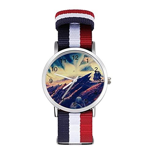 Lord Rings - Reloj de ocio para adultos con trenza escala, ajustable y elegante espejo de cristal de 1.6 pulgadas para hombres y mujeres