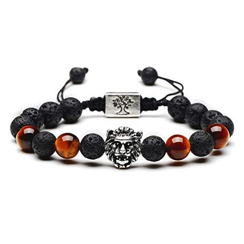 armband, lavasteen, boeddhistisch, armband, reiki, elastisch, legering, kunsthandwerk, levensboom, lavasteen, armband, chakra, wit, etherische olie, diffuser, elastisch, geribbeld, uniseks, sieraden