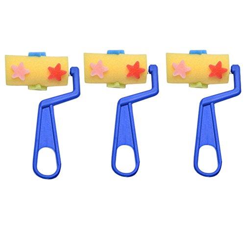 3x chytaii Set Bürsten Farbwalzenreiniger Stempel Frottee Werkzeug Handwerk für Kinder