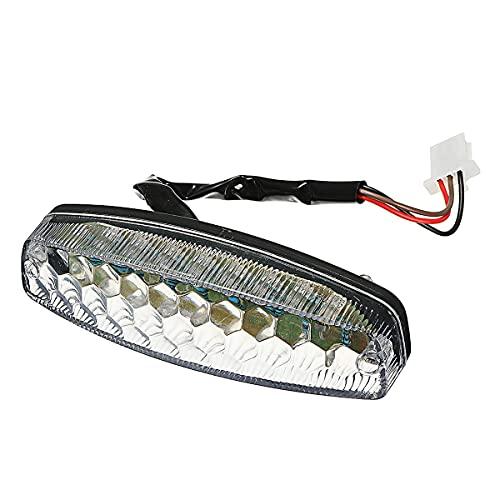 TIANYUAN Luces de Freno Freno Trasero de la lámpara Trasera de la Motocicleta Luz de Freno 18LED 12V para 50cc para 125cc ATV Quad para Taotao Sunl