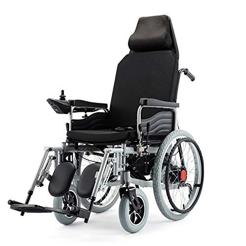 JHKGY Elektrischer Leichter Rollstuhl,Tragbarer Faltbarer Elektrischer Rollstuhl,Einstellbare Rückenlehne Und Pedalwinkel,360 ° Joystick,Für Ältere Menschen Mit Behinderungen
