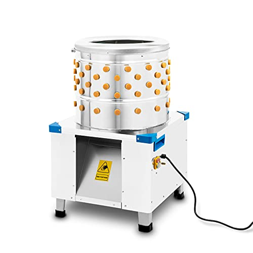 vertes Geflügelrupfmaschine Nassrupfmaschine (Enten & Hühner, Edelstahl, bis zu 180 kg/h, 550 Watt, 106 Rupfnoppen)
