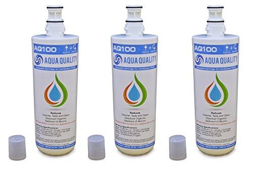 3 x Aqua Filtre Insinkerator water de qualité F701r, compatible avec tête A1 ou A3, Contrairement aux autres compatibles CE filtre est garanti pour s'adapter à votre Système Insinkerator, Économisez