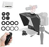 Pronstoor - Teleprompter para teléfono y cámara réflex digital con control remoto, portátil para grabación de vídeo