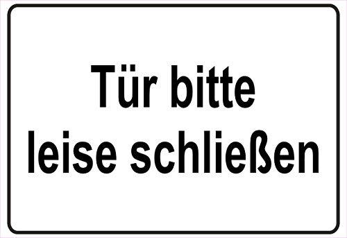 Netspares 138775972 Schild Hinweisschild Hinweis Bitte leise schließen Türe Hausflur Eingang