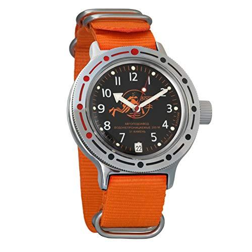 Vostok Amphibian - Reloj de pulsera automático para hombre, cuerda automática, reloj de pulsera militar de buceo Amphibia #420380