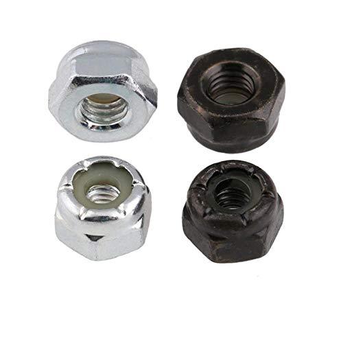 Gegalvaniseerde inch Lock moer, Amerikaanse zelfvergrendelende moer, Zwart Nylon Lock moer Ons gemaakte 6# -32 tanden (10 tabletten/wit zink)