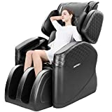 angstep 2020 New Massage Chair Zero Gravity Full Body Electric Massage Chair Recliner with Stretched Mode Airbag Heating Back and Foot Rollers Massage (Black)
