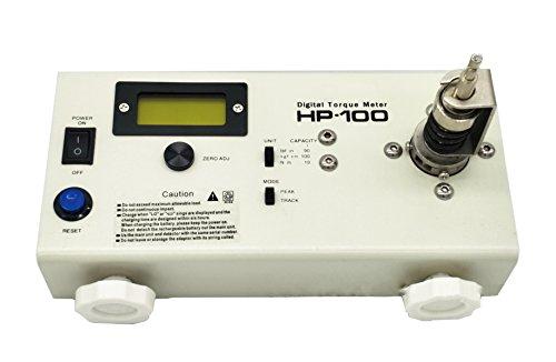 Huanyu HP-100 Drehmomentmessgerät Digitaler Drehmomentmesser N.m: 0.15-10.00 Drehmomentschlüssel Adapter Präzision<0.5% Fs Torsionsmesser