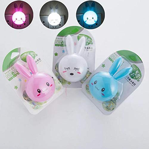 Nachtlampje AC110-220V van het karikatuur-kanijnen-LED schakelaar-wand-nachtlampje met Amerikaanse stekker-geschenken voor kinder-, baby- en kinderslaapkamer-nachtlampje White wit