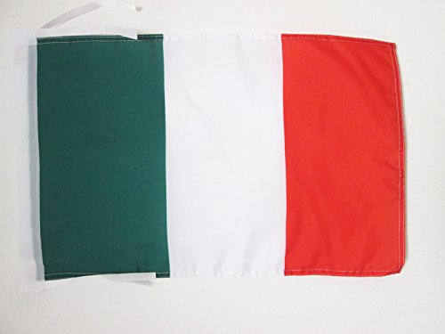 AZ FLAG Drapeau Italie 45x30cm - PAVILLON Italien 30 x 45 cm Haute qualité