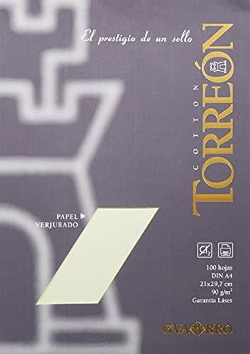 Paquete A4 (100 Hojas) Guarro Torreón 10% Verjurado 90g Ahuesado ⭐