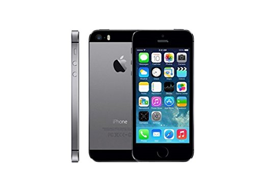 Apple iPhone 5S Smartphone 16GB (10,2 cm (4 Zoll) IPS Retina-Touchscreen, 8 Megapixel Kamera, iOS 7) Spacegrau (Generalüberholt)